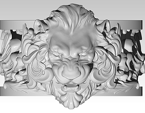 3D print model Jewelry Lion Ring Carved Pattern