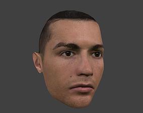 Head of Cristiano Ronaldo low poly 3D asset