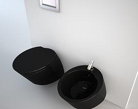 3D asset Nic Design Monolite Bidet and Toilet