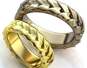 Gold Metal Rings 256 3D print model