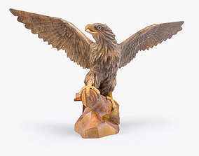 3D Wooden Eagle Sculpture game-ready