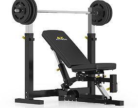 3D model Adjustable Weight Bench
