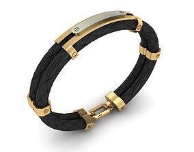 3D printable model braceletcharm MEN BRACELET