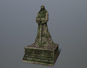 old statue 4 3D asset