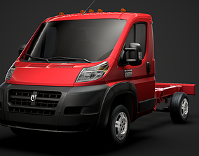 Ram Promaster Cargo Chassis Truck Single Cab 3D model 2