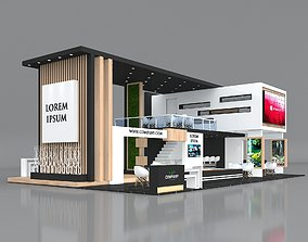 3D model Exhibition Stand Booth Stall 15x9m Height 550cm 3