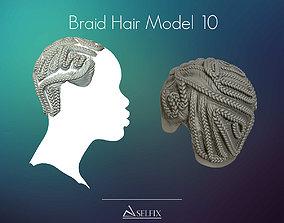 Braid Hairstyle 10 3D printable model