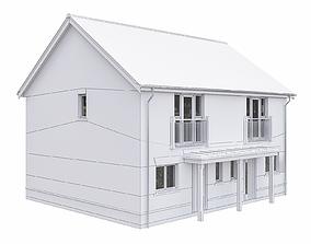 3D model Neighborhood Houses P28