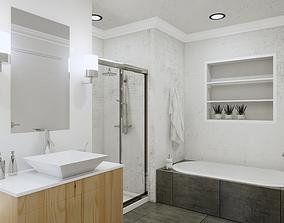 Bathroom Revit Model Scene low-poly