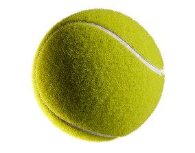 green 3D PBR Tennis ball