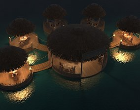 cafe on the water 3D model