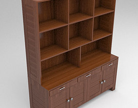 Wooden Cabinet 3D cupboard
