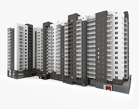 european Residential Building 3D model