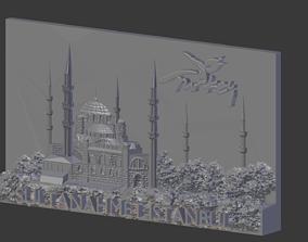 Sultan Ahmet Istanbul mosque relief 3D printable model