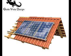 3D model Solar Panel Roof