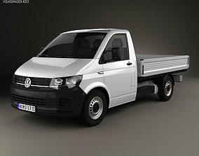 3D model Volkswagen Transporter T6 Single Cab Pickup L2