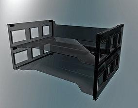 In-out Desk tray Plastic v01 3D model