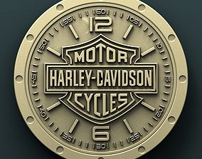 Harley Davidson wall clock 3d stl model for