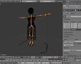 animated Model made in low poly blender