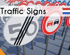 3D model Traffic signs Dutch