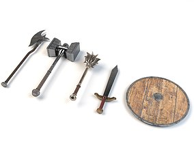 Medieval weapon pack 3D