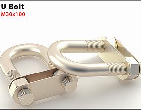 Original Size U Bolt Ready for 3d Print M30X100