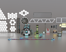Sci-fi Assets low-poly