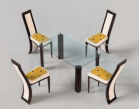 Dining table 3D asset game-ready