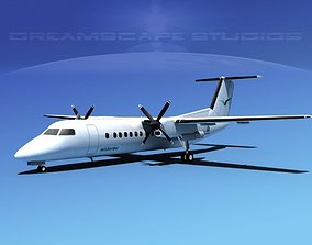 3D model DeHavilland DHC-8-Q300 Wideroe