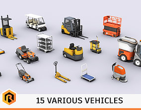 3D Various Types Of Vehicles