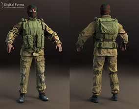 Russian uniform and equipment 90th RAW 3D scan data