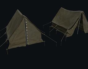 3D asset realtime Tourist tent