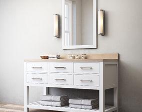 RH Hutton single extra-wide washstand 3D