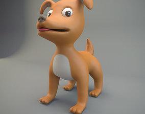 3D asset game-ready Cartoon Dog