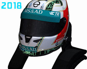 3D model Da Costa helmet 2017 2018