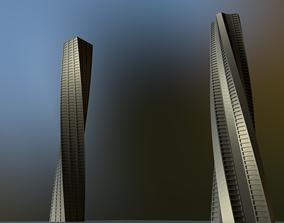 Spiral Skyscraper miniatures 3D print model