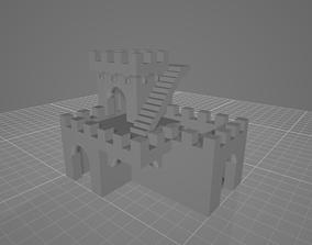 3D print model Low poly castle assets