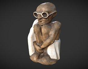 3D asset Gandhi Salt Shaker