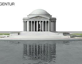 Jefferson Memorial in Washington 3D model architectural