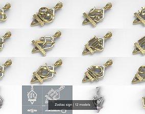 Zodiac sign 3D model