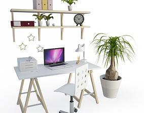Desk Office Composition 3D model