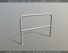 3D asset Stainless Steel Railing 1400mm