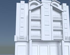 modern apartment building 3D print model