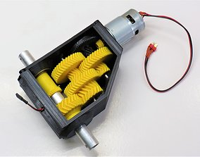 3D-printable high torque servo-gearbox version 2
