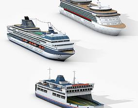 3D asset Passengers Watercraft Collections