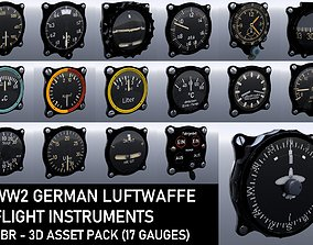 WW2 GERMAN FLIGHT INSTRUMENTS - ASSET PACK 3D model