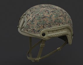 Ops Core Fast helmet foliage green with marpat camo 3D