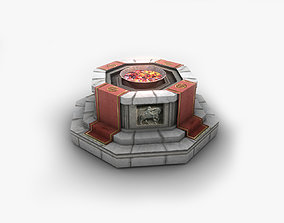 3D model Shrine with fire pit brazier
