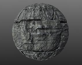 3D model Blocky Cliff Rock 002 PBR Material Texture
