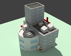 Low Poly Hospital 3D asset